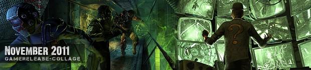 Videospielespaß im November 2011 - die Game-Releases des Monats