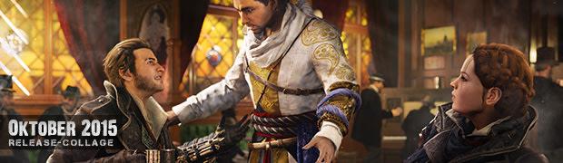 Videospielespaß im Oktober 2015 - die Game-Releases des Monats