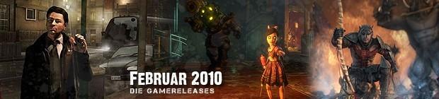 Videospielespaß im Februar 2010 - die Game-Releases des Monats