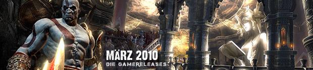 Videospielespaß im März 2010 - die Game-Releases des Monats