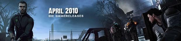 Videospielespaß im April 2010 - die Game-Releases des Monats