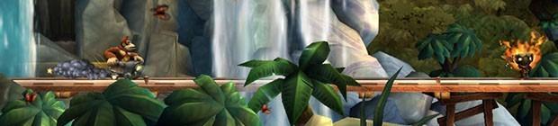 Donkey Kong Country Returns - Affentheater von den Retro Studios, die herbstliche Bananenhatz!