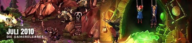 Videospielespaß im Juli 2010 - die Game-Releases des Monats