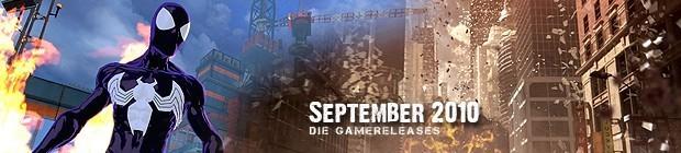 Videospielespaß im September 2010 - die Game-Releases des Monats