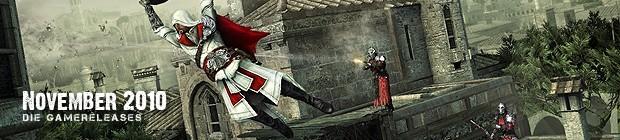 Videospielespaß im November 2010 - die Game-Releases des Monats